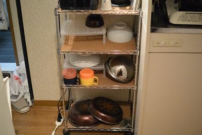 メタルラックで作った食器棚
