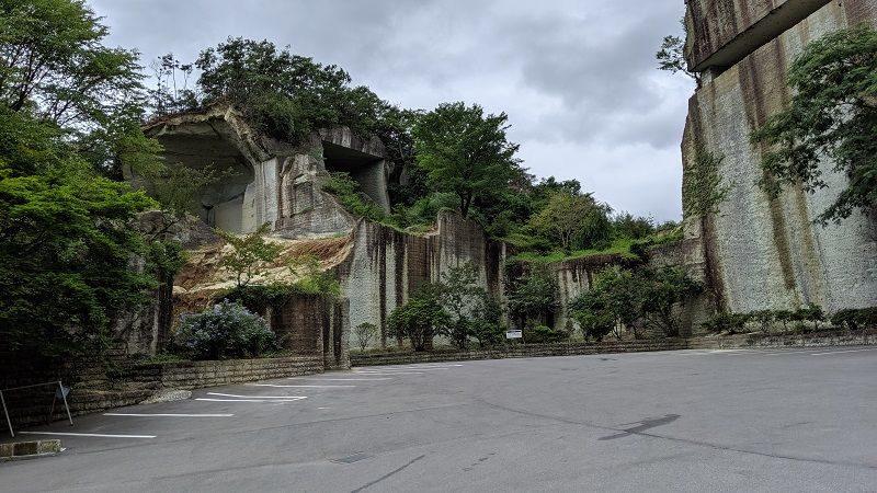 大谷資料館の駐車場